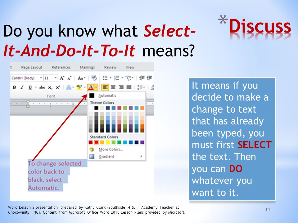 Discuss Do you know what Select-It-And-Do-It-To-It means