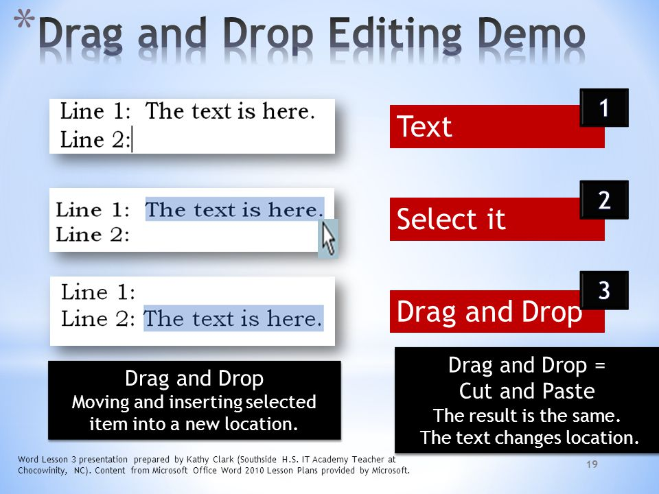 Drag and Drop Editing Demo