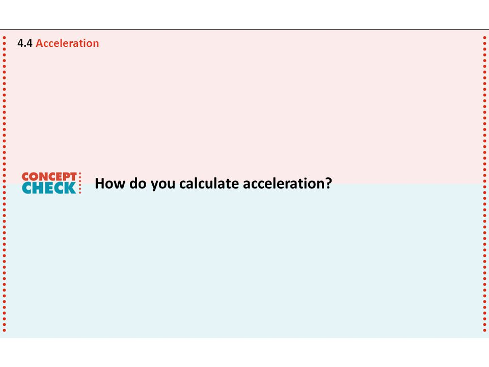 How do you calculate acceleration
