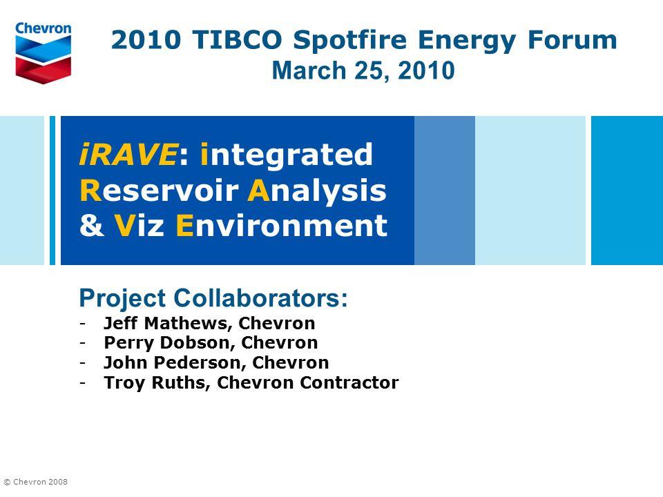 iRAVE: integrated Reservoir Analysis & Viz Environment