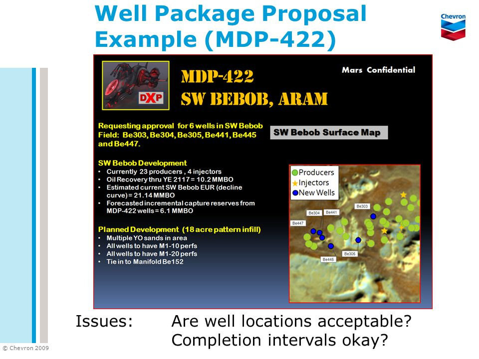 Well Package Proposal Example (MDP-422)