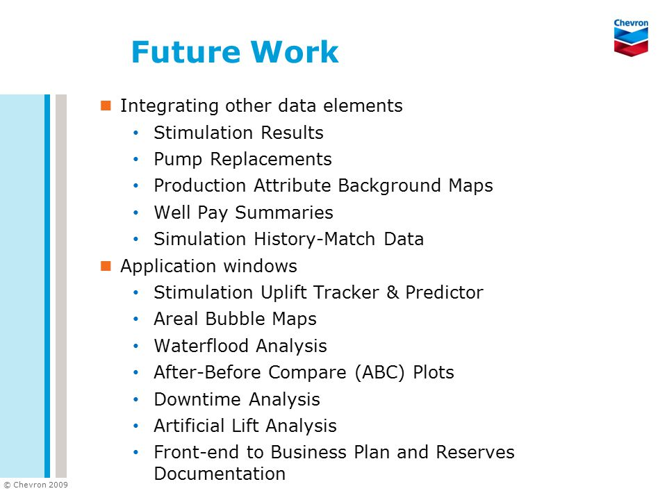 Future Work Integrating other data elements Stimulation Results
