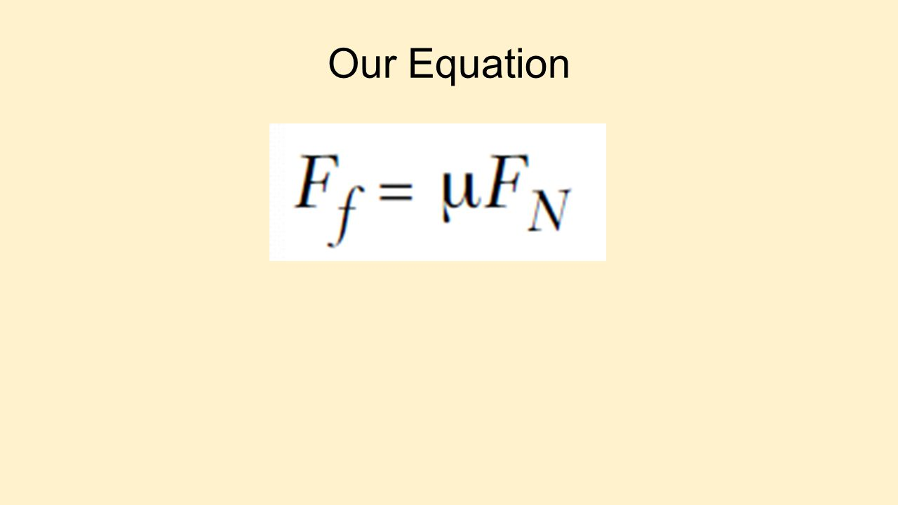 Our Equation