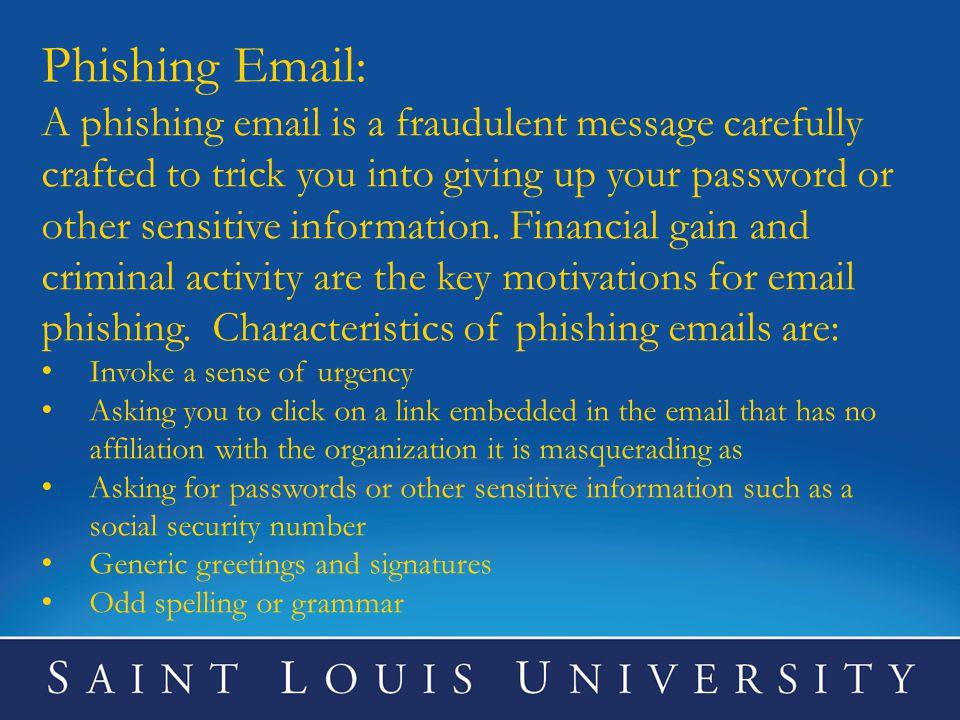 Phishing Email: