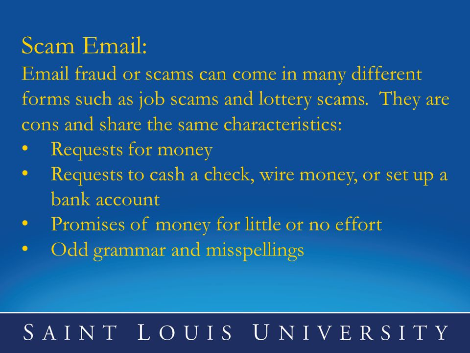 Scam Email: