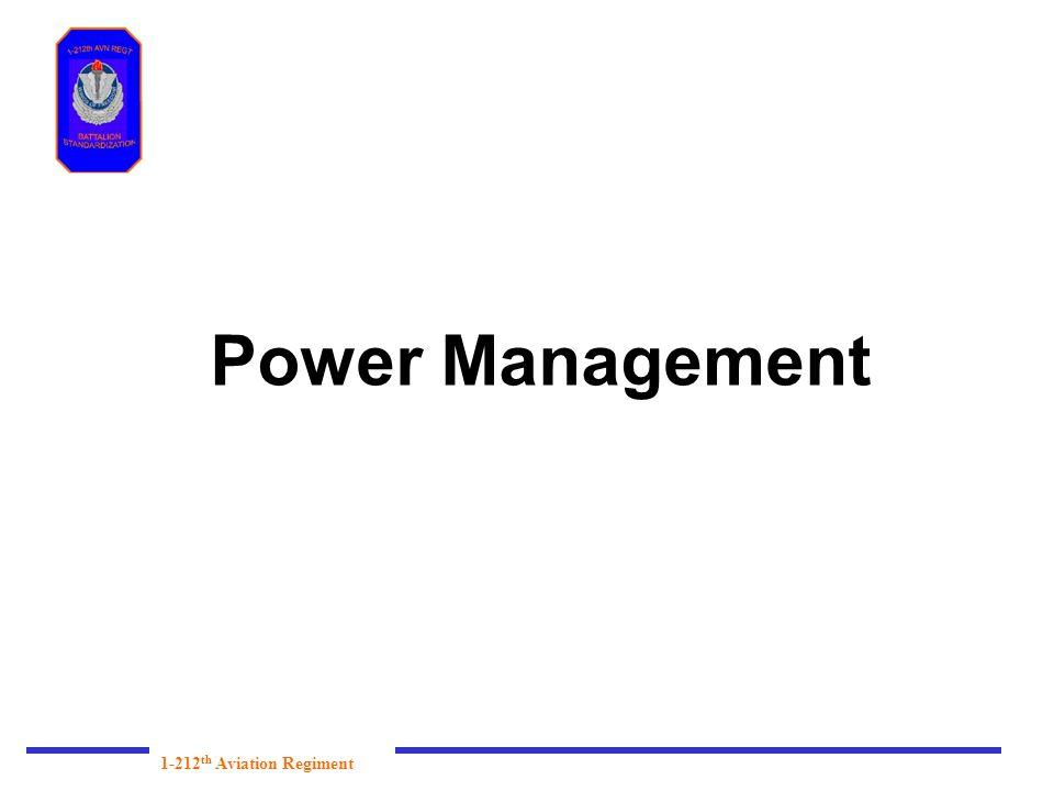 Power Management 1-212th Aviation Regiment
