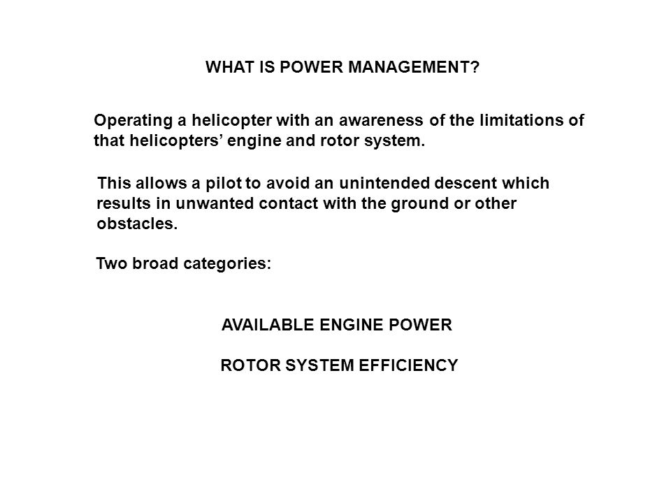 WHAT IS POWER MANAGEMENT