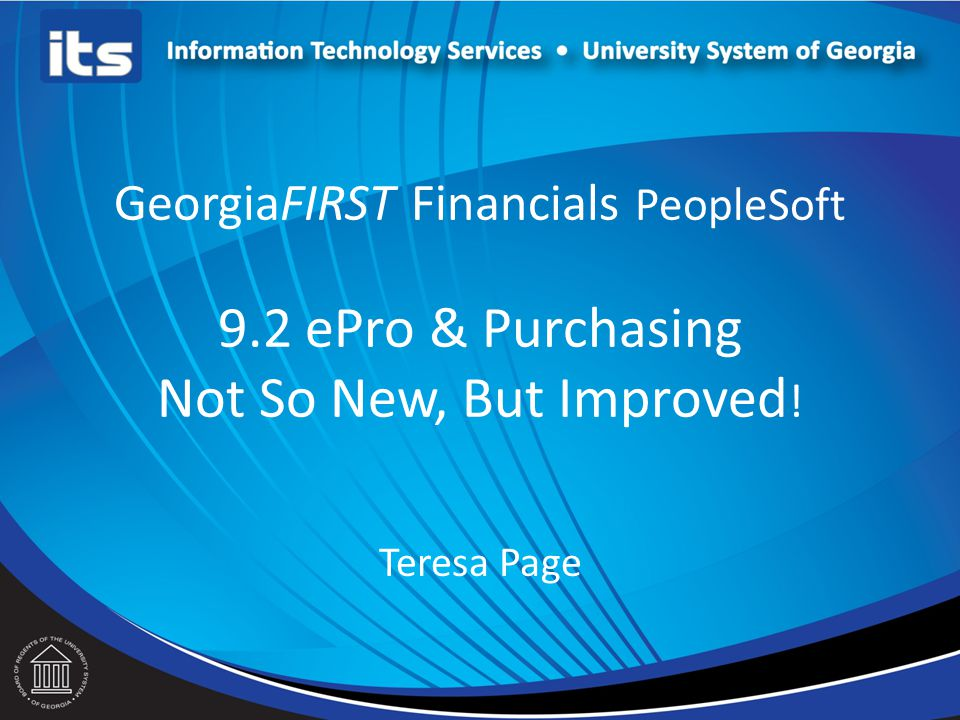 GeorgiaFIRST Financials PeopleSoft 9