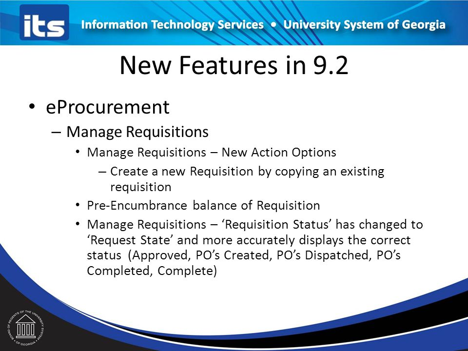 New Features in 9.2 eProcurement Manage Requisitions