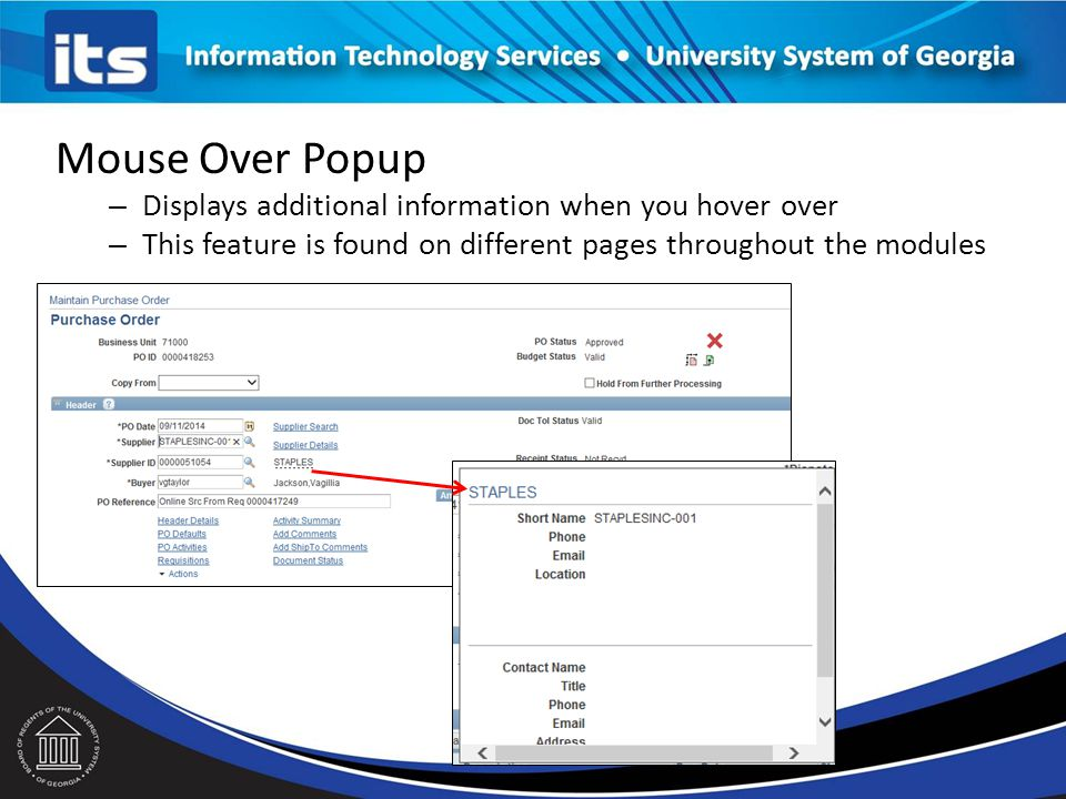 Mouse Over Popup Displays additional information when you hover over