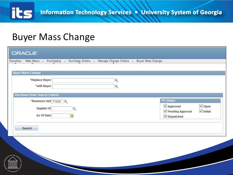 Buyer Mass Change