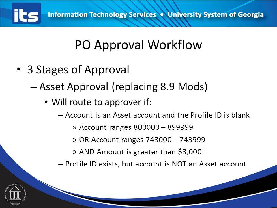 PO Approval Workflow 3 Stages of Approval