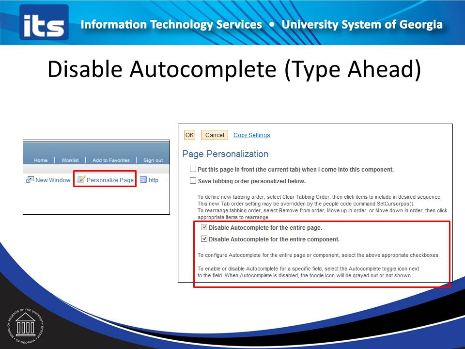 Disable Autocomplete (Type Ahead)