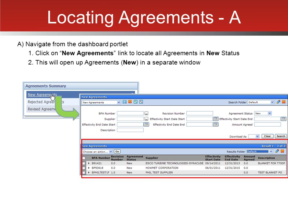 Locating Agreements - A