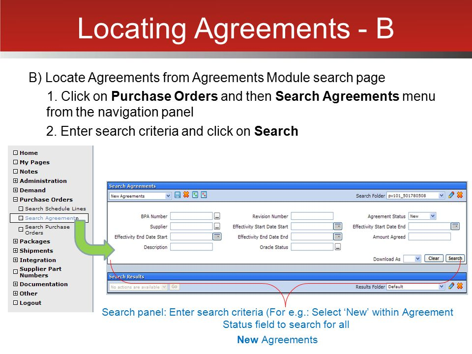 Locating Agreements - B
