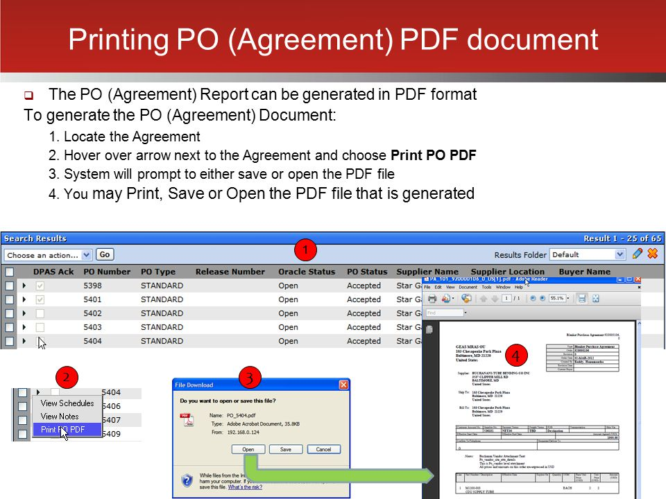 Printing PO (Agreement) PDF document