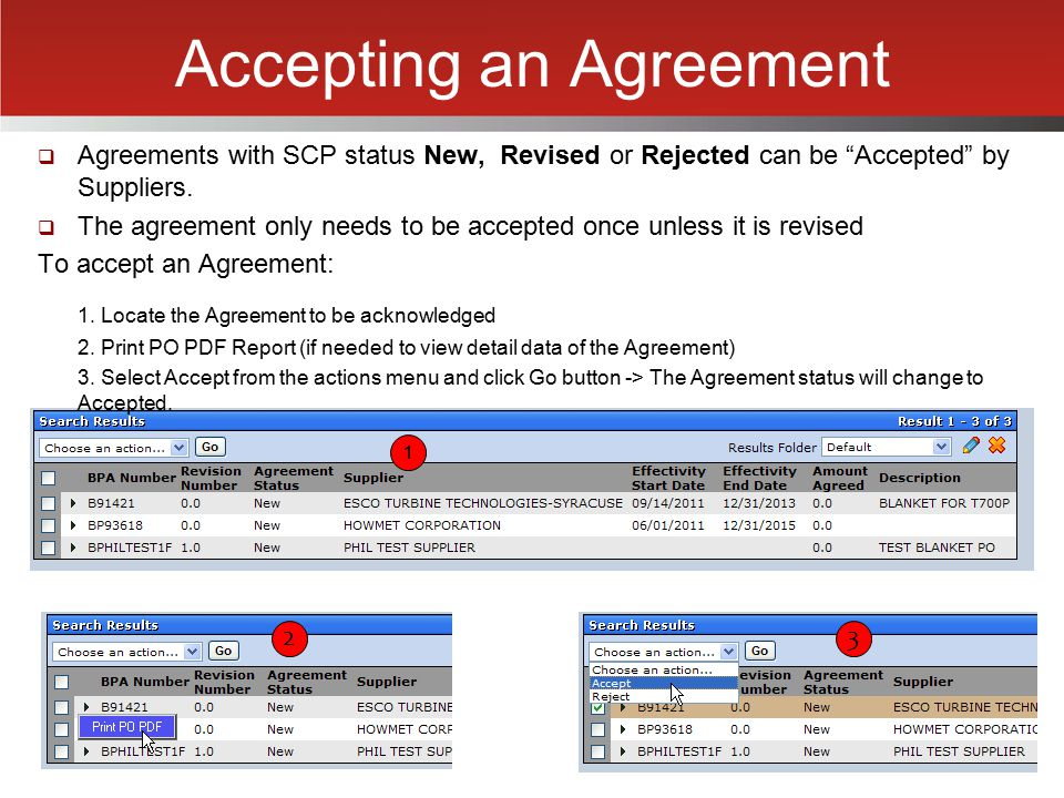 Accepting an Agreement