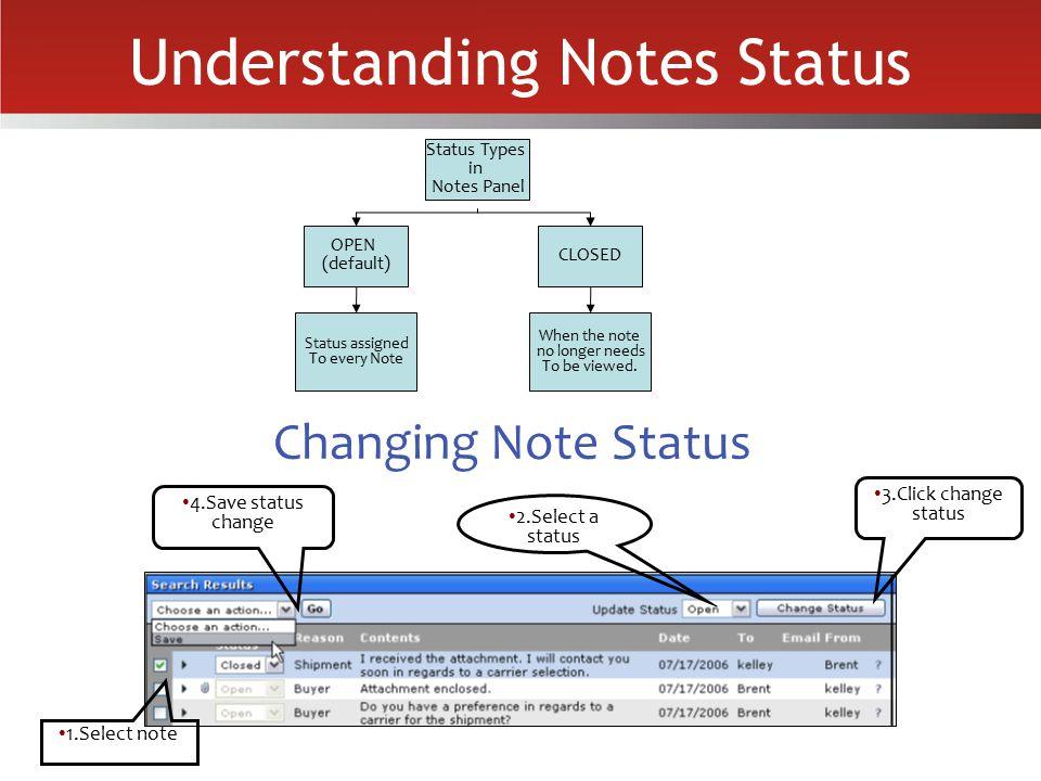 Understanding Notes Status