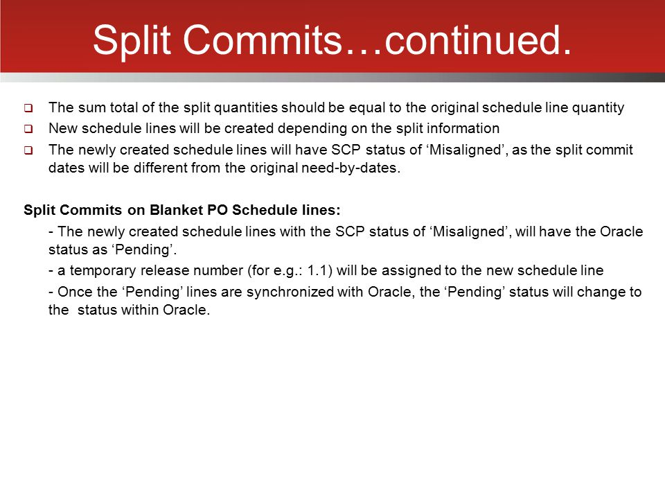 Split Commits…continued.
