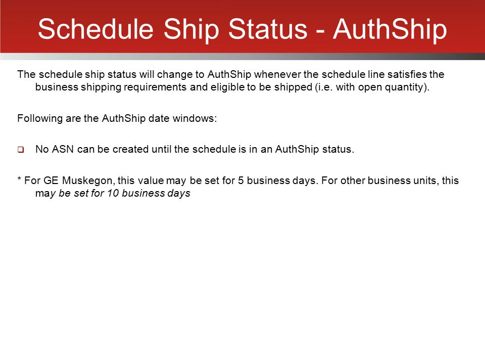 Schedule Ship Status - AuthShip