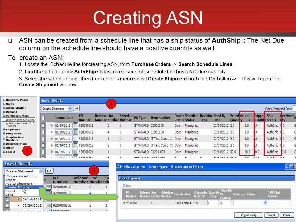 Creating ASN