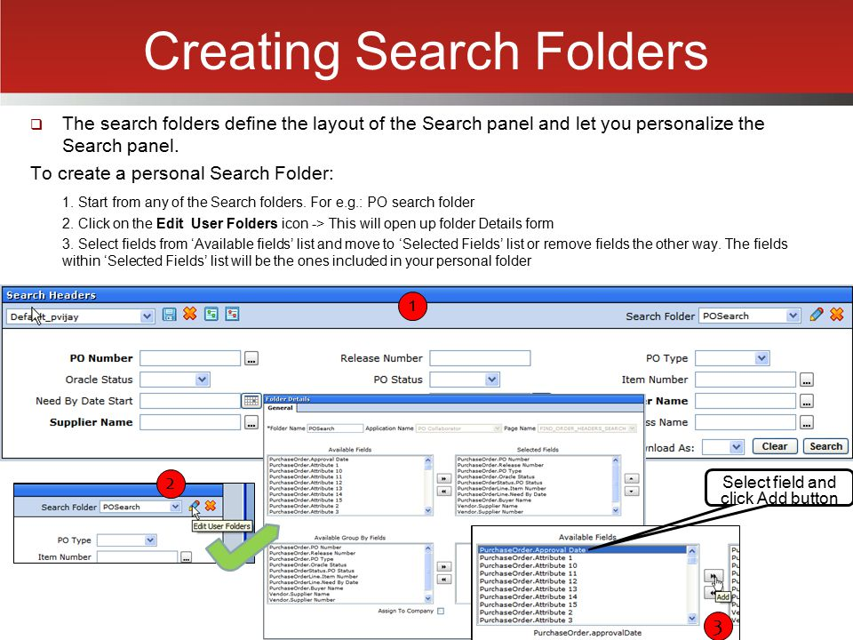 Creating Search Folders