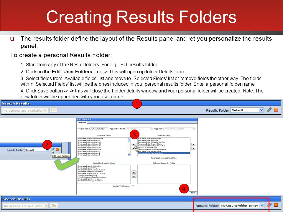 Creating Results Folders