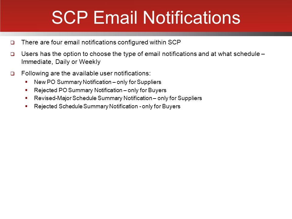 SCP Email Notifications
