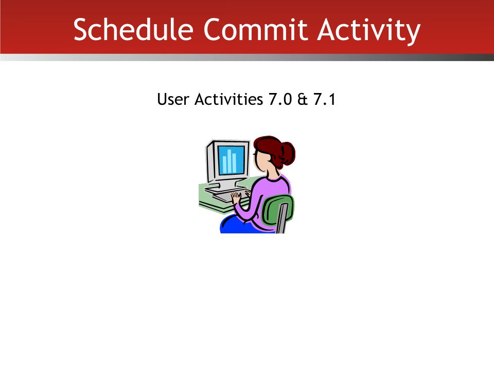 Schedule Commit Activity