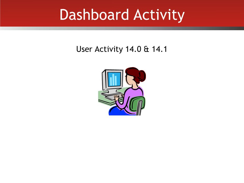 Dashboard Activity User Activity 14.0 & 14.1