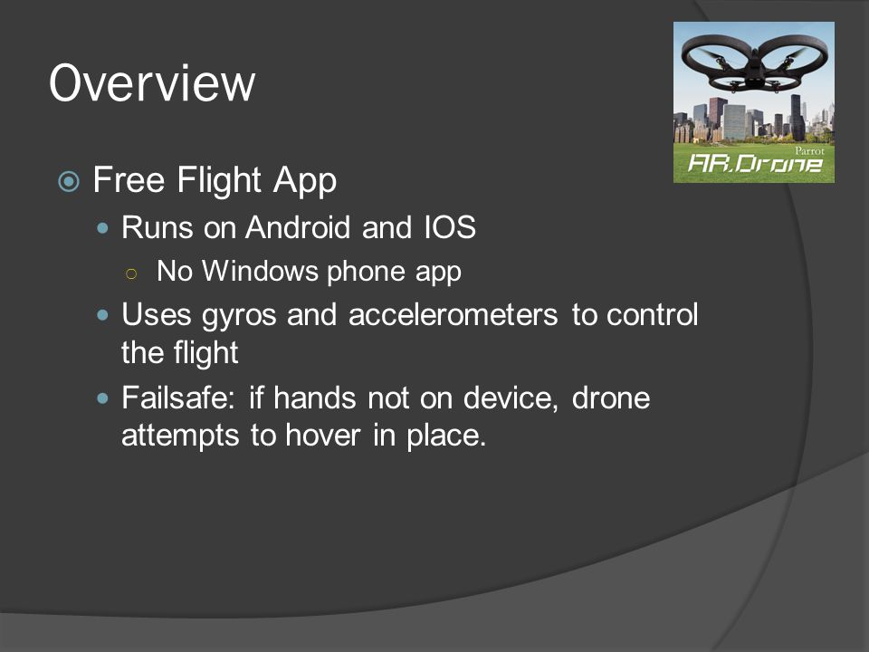 Overview Free Flight App Runs on Android and IOS