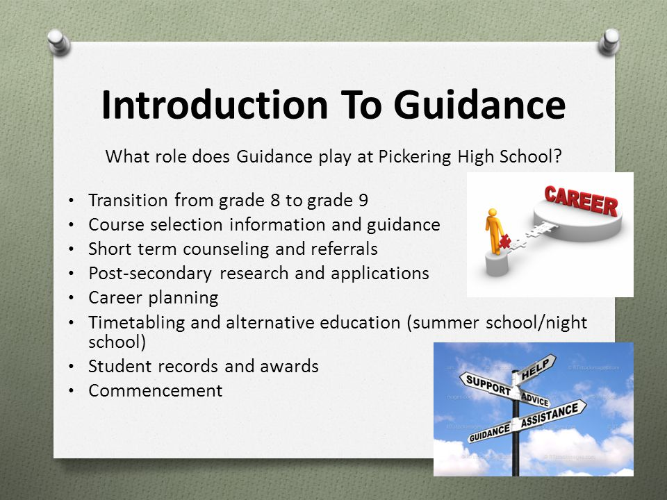 Introduction To Guidance