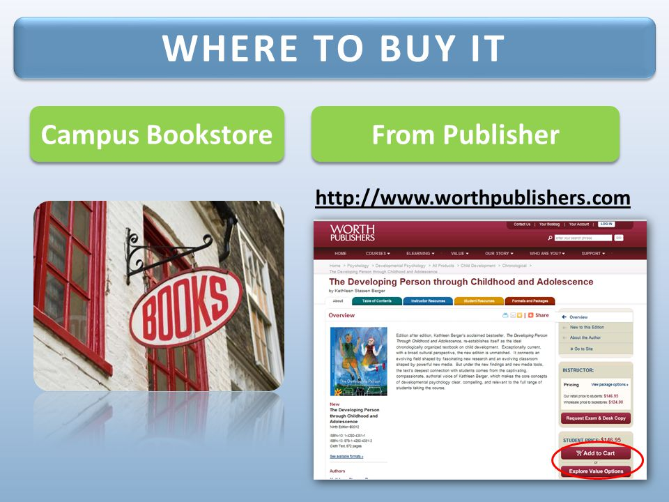 WHERE TO BUY IT Campus Bookstore From Publisher