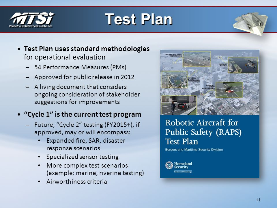 Test Plan Test Plan uses standard methodologies for operational evaluation. 54 Performance Measures (PMs)