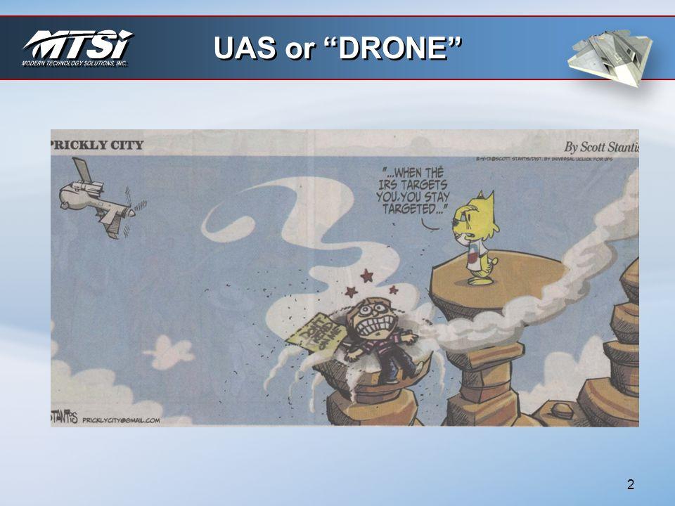 UAS or DRONE