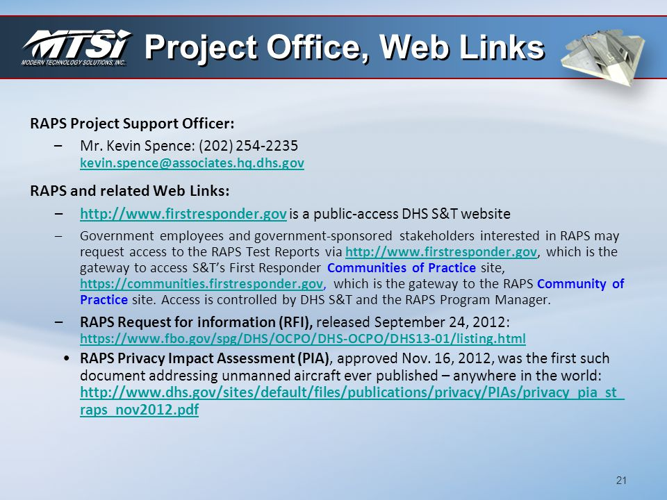 Project Office, Web Links
