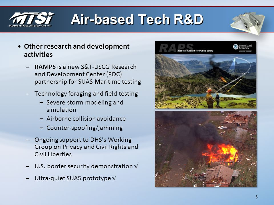 Air-based Tech R&D Other research and development activities