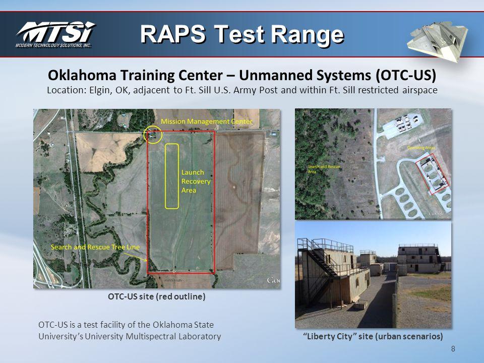 RAPS Test Range Oklahoma Training Center – Unmanned Systems (OTC-US)