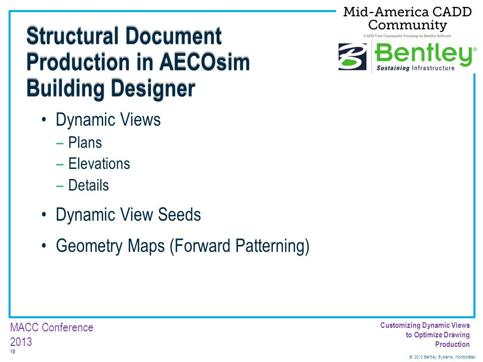 Structural Document Production in AECOsim Building Designer