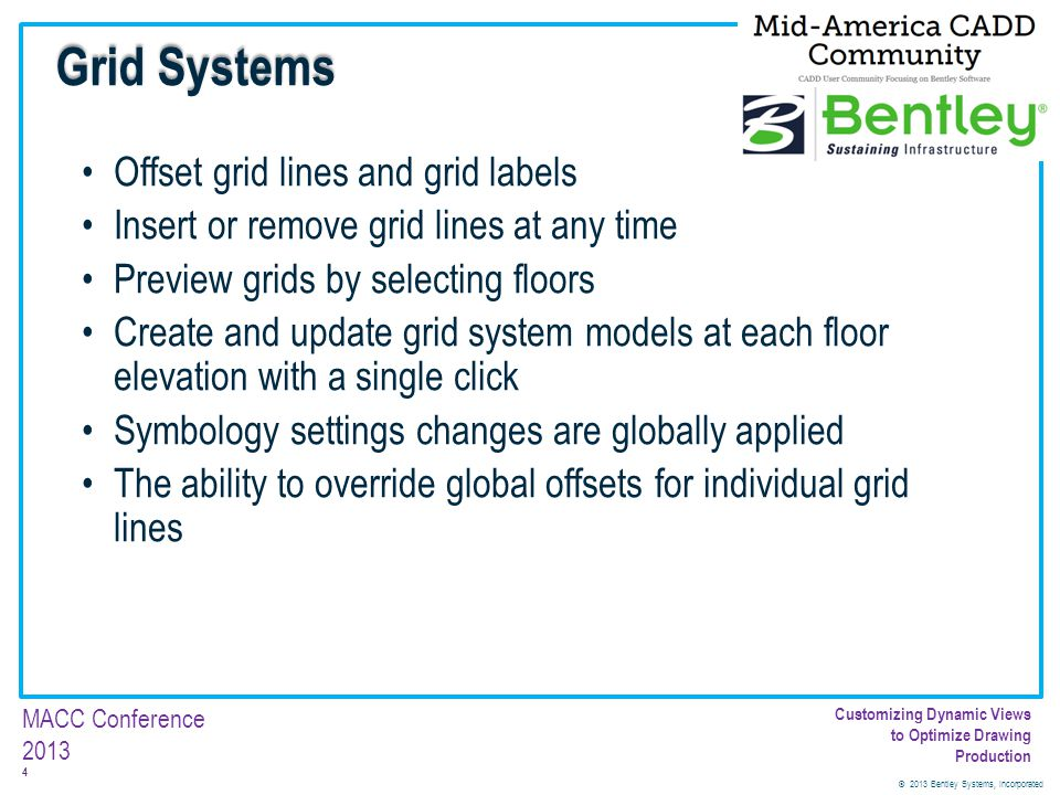 Grid Systems Offset grid lines and grid labels