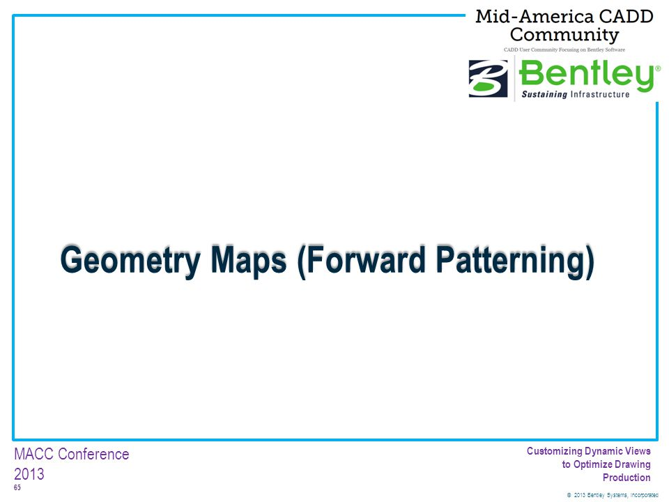 Geometry Maps (Forward Patterning)