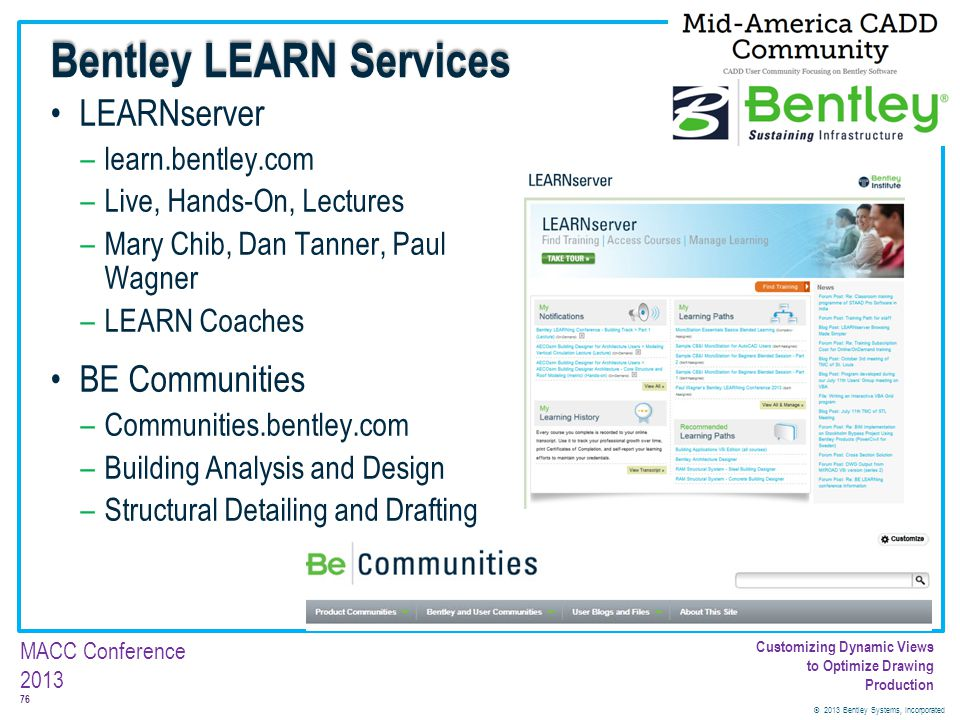 Bentley LEARN Services
