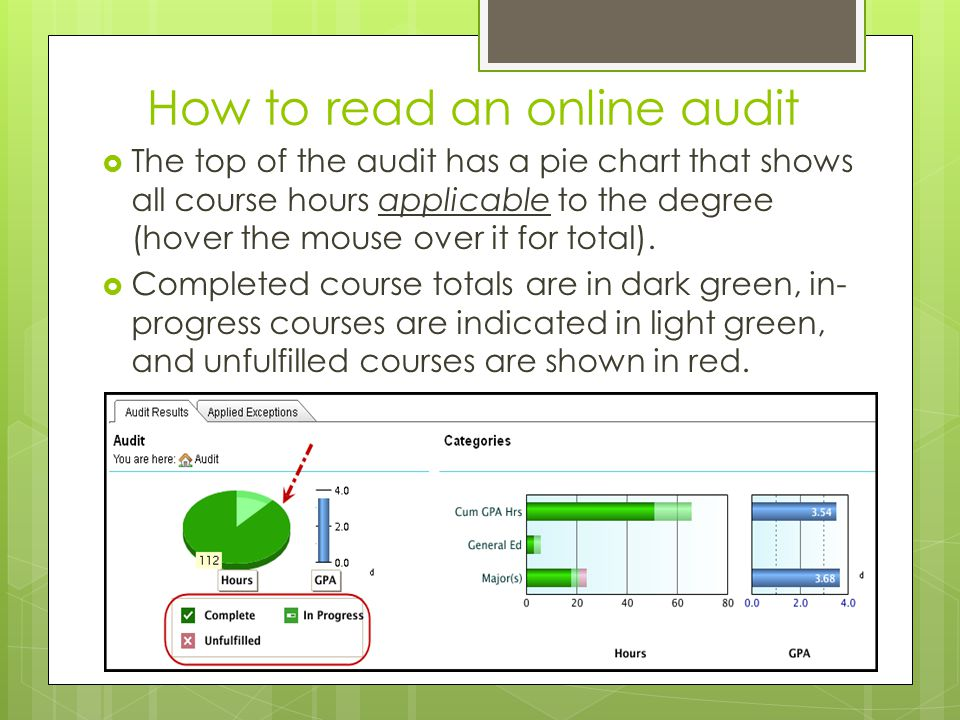 How to read an online audit