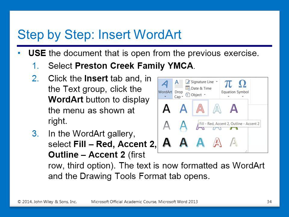 Step by Step: Insert WordArt