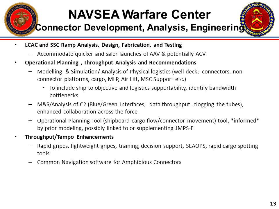 NAVSEA Warfare Center Connector Development, Analysis, Engineering