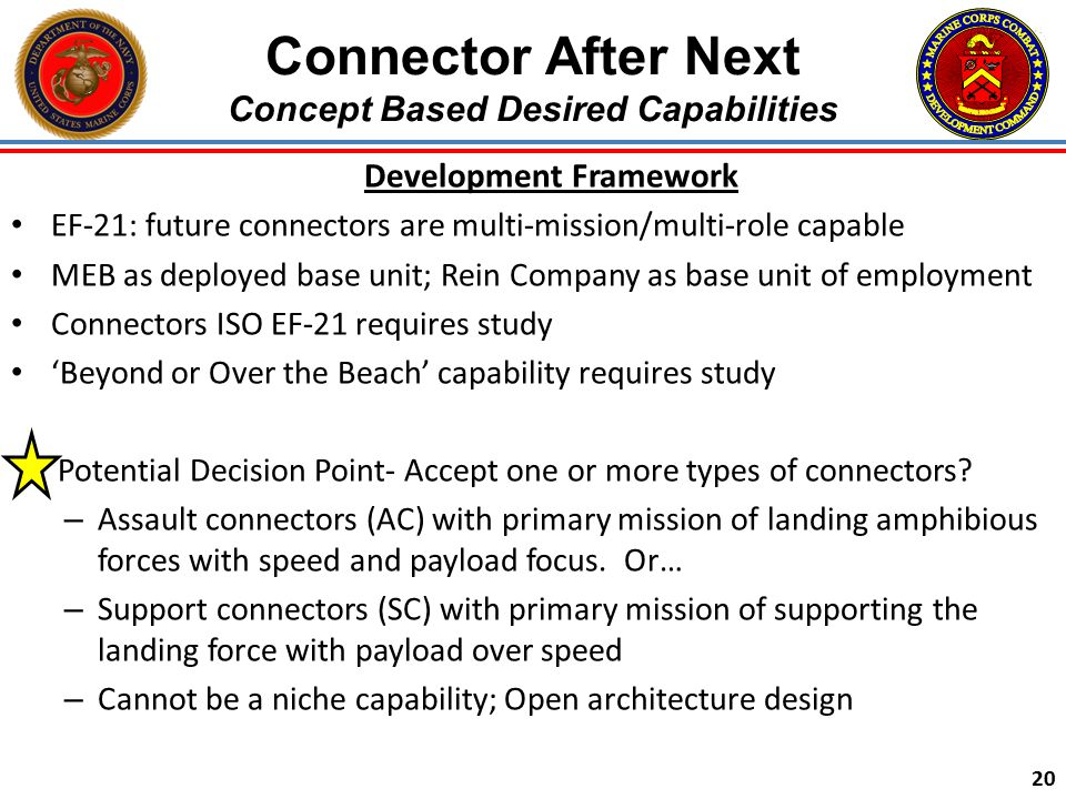 Connector After Next Concept Based Desired Capabilities