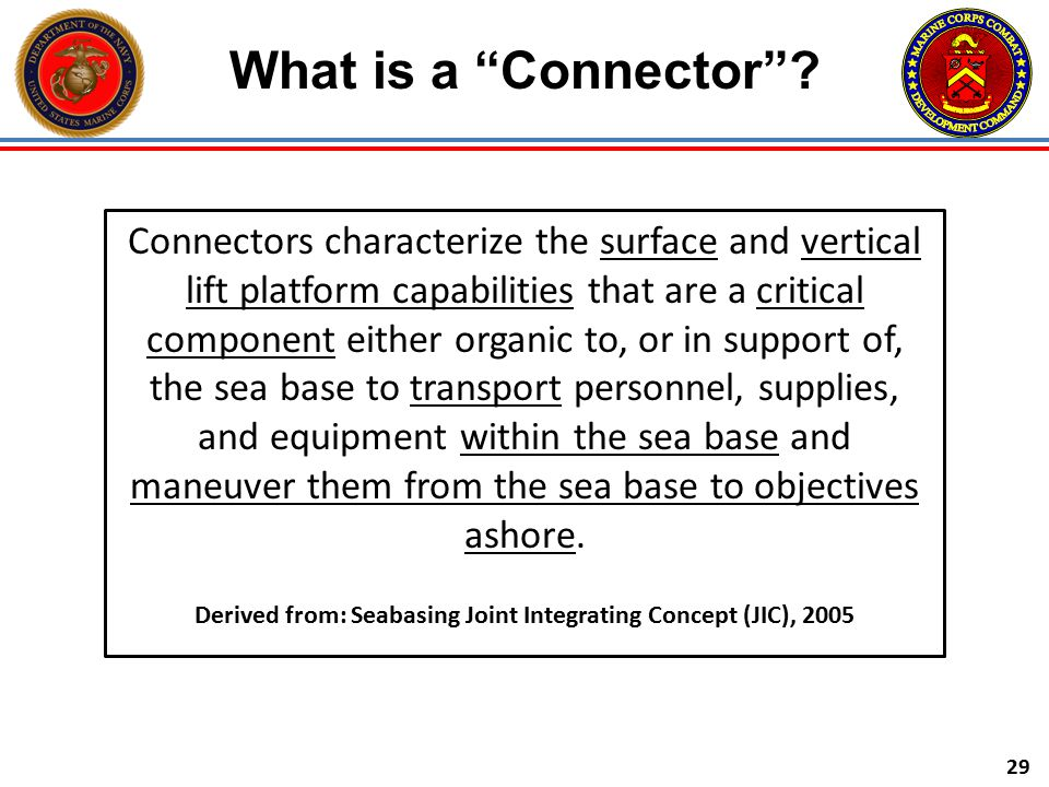 Derived from: Seabasing Joint Integrating Concept (JIC), 2005