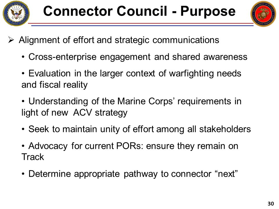 Connector Council - Purpose