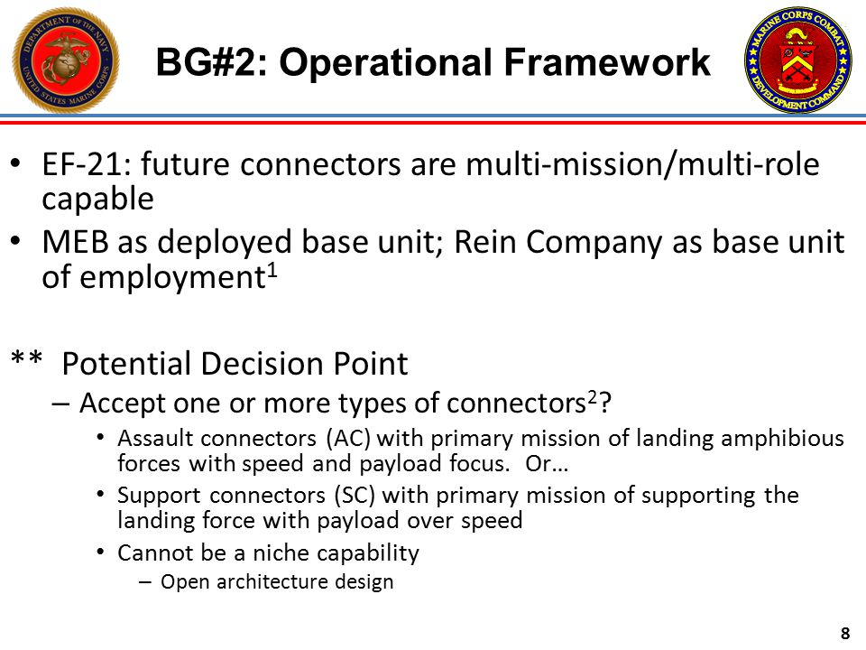 BG#2: Operational Framework