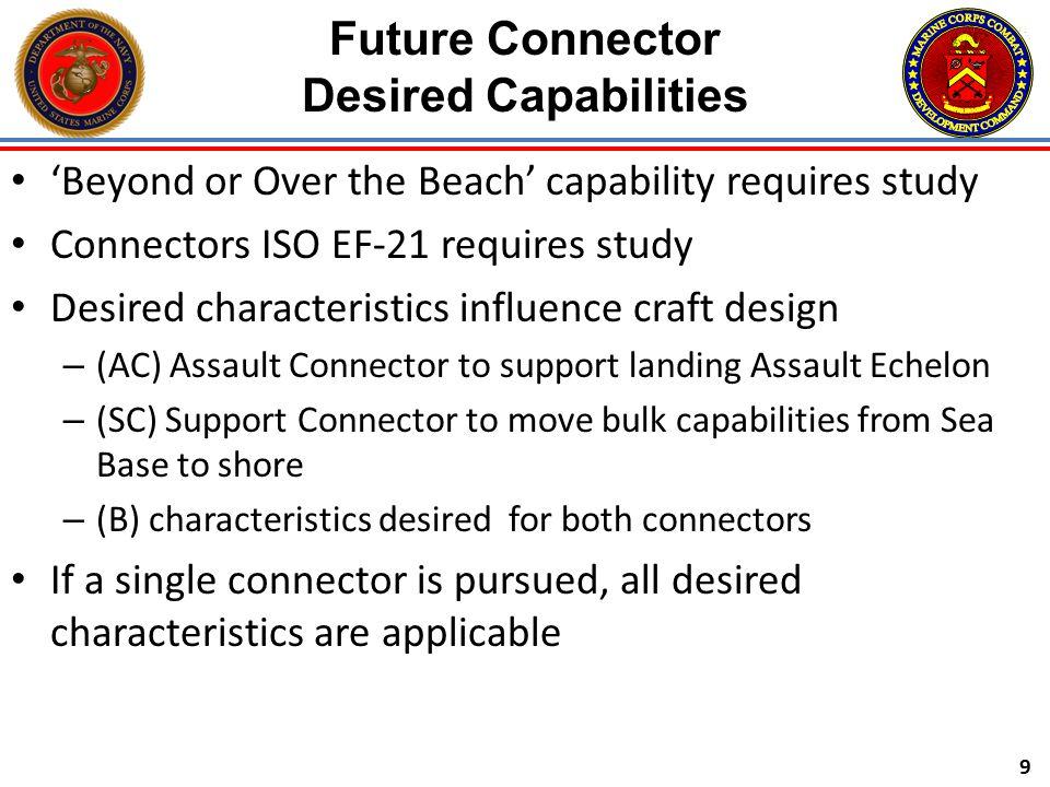 Future Connector Desired Capabilities
